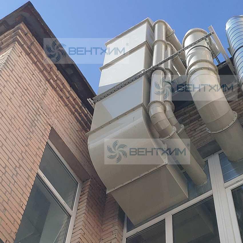 воздуховоды для эффективной вентиляции агрессивных газов на химических производствах